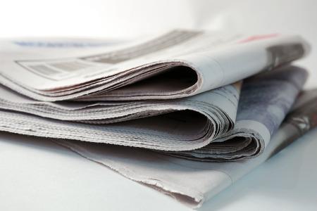 oude krant: stapel kranten Stockfoto