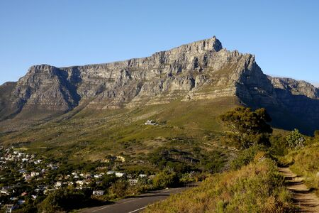 south africa: landmark table mountain, in cape town, south africa Stock Photo