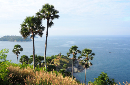 paradise bay: viewpoint over promthep cape, phuket island, thailand