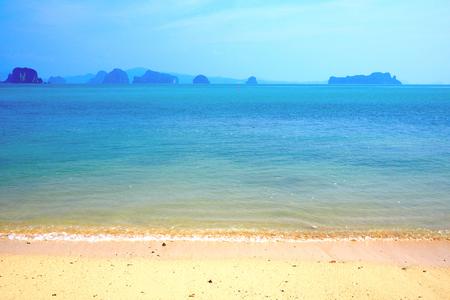 paradise bay: ocean and white beach