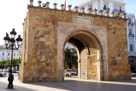 the french gate, entry to the old town of tunis Stock fotó