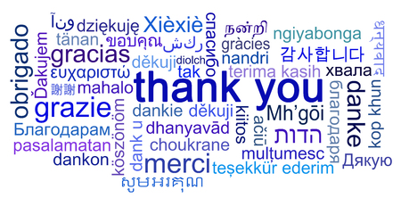 Thank You Concept different Languages Stock Photo