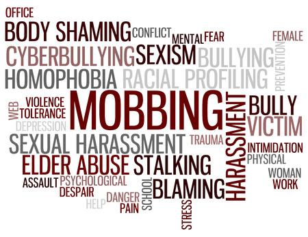 Mobbing Wordcloud Standard-Bild - 85174996