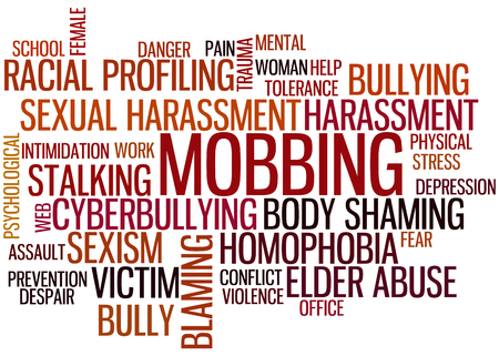 Bullying Wordcloud 版權商用圖片