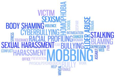 Bullying Wordcloud 写真素材