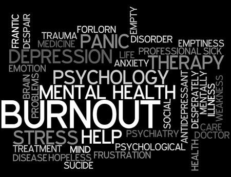 Burnout Concept Word Cloud Stock Photo
