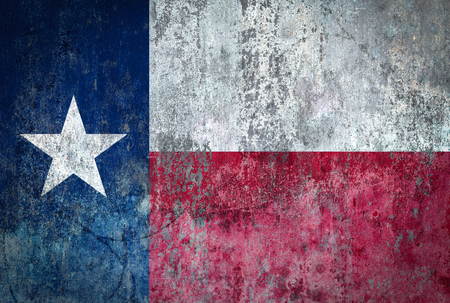 Texas Flag painted on a Wall