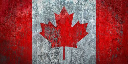 Canada Flag painted on a Wall Stock Photo