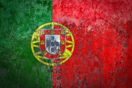Portugal Flag painted on a Wall Stock Photo