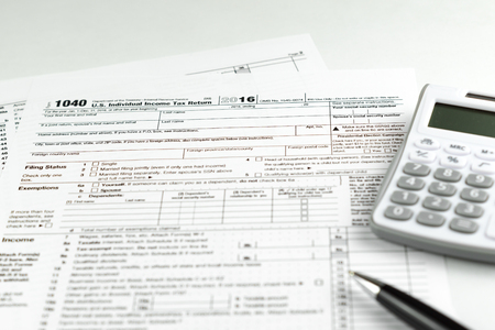 Us Tax Form 1040 Stock Photo Picture And Royalty Free Image Image