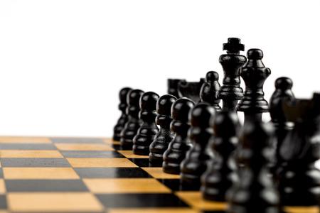 Chess Game Black Team Stock Photo