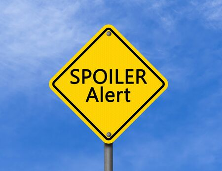 Warning Sign Spoiler Alert Stock Photo