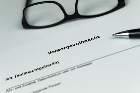 German Document of an Living Will Stock fotó