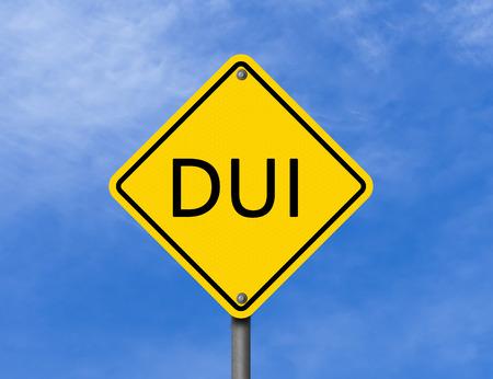 Waarschuwingsbord DUI