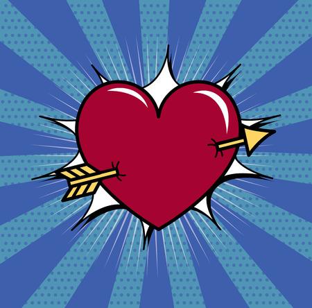 Heart pierced with an arrow.