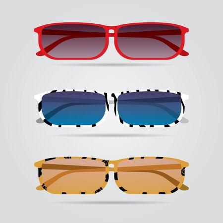 Colorful eyeglasses set. Illustration