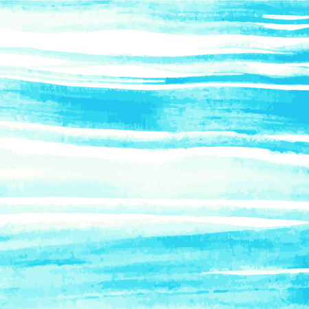 Watercolor vector in stripe blue background. Abstract hand drawn background Illusztráció