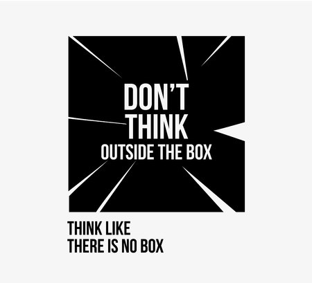 Do not think outside the box  poster Stock Vector - 99811023