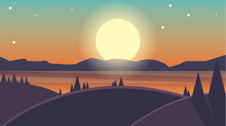 Vector landscape background Stock Illustratie