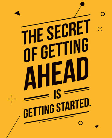 The secret of getting ahead design banner Illusztráció