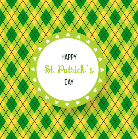 Saint Patricks Day Card with clover abstract background Vector Illustration.