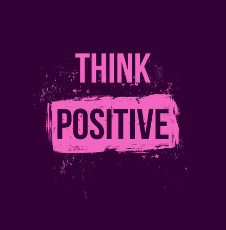 think positive. Positive quotes. For flyer banners posters Ilustrace