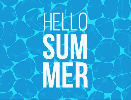Hello Summer banner design for banner, flyer, invitation, poster, web site or greeting card Çizim
