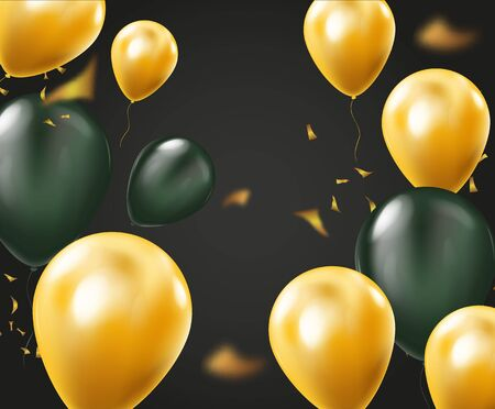 Colorful Balloons Flying for Party and Celebrations Vector Background. Vector Illustration