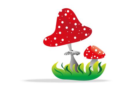 toadstool: fungo velenoso Vettoriali