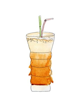 latte: watercolor latte