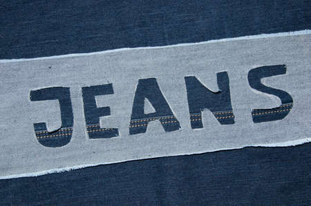 Denim letters  photo
