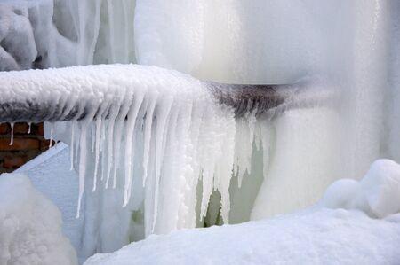 tuberias de agua: Chorros de agua congeladas