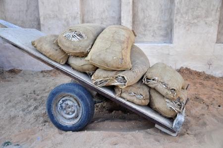holey: Holey bags on a cart