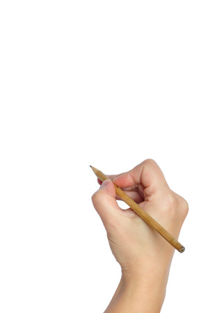 hand with pencil: Pencil in hand