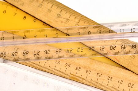 rulers: Rulers. Stock Photo