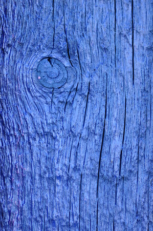 panelling: Old wooden board painted with blue paint. Stock Photo