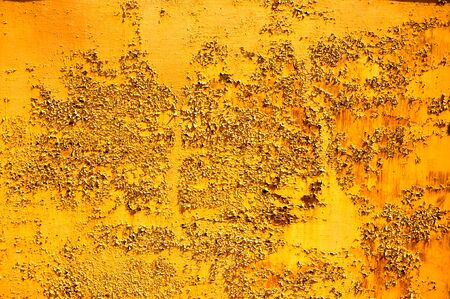 metal wall: Rusty metal wall of the garage. Stock Photo