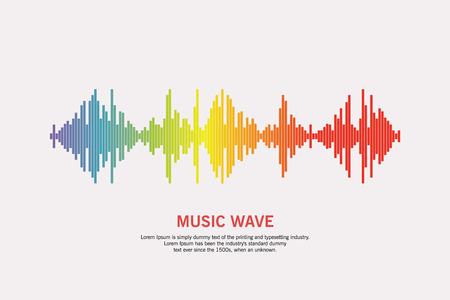 Pulse music player vector illustration