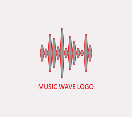 Audio, music wave icon Illustration