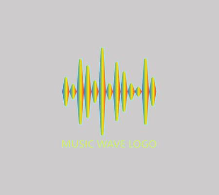 Abstract Equalizer logo. Pulse music player symbol. Vector colorful equalizer element. Sound Wave Illustration.