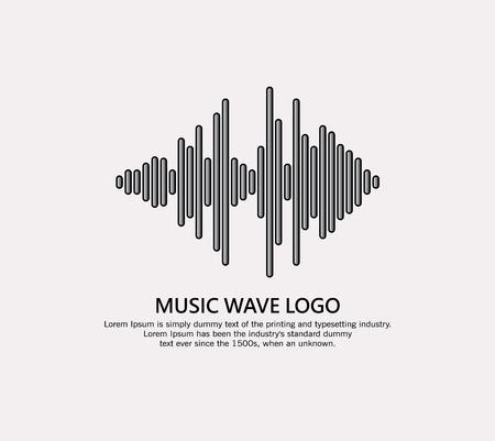 Music wave logo Illustration