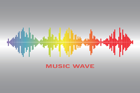 Pulse music player. Vector colorful equalizer element