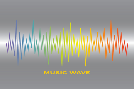 Pulse music player logo. Vector colorful equalizer element Illustration