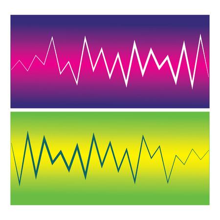 Vector pulse waves. Ilustração