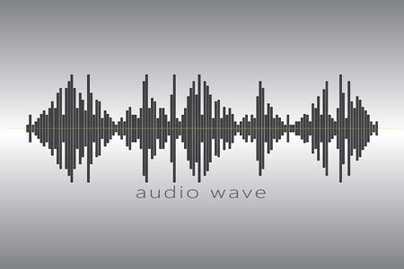 Audio equalizer element on a gray background. Stock Photo