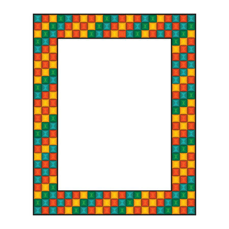 Colored mosaic frame