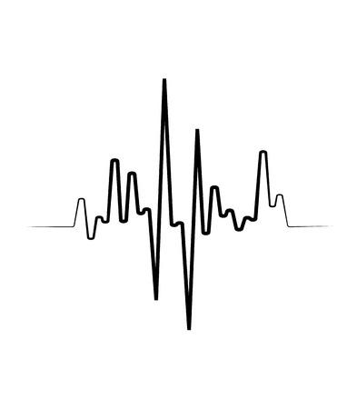 Black Music wave symbol. Vector equalizer element Иллюстрация