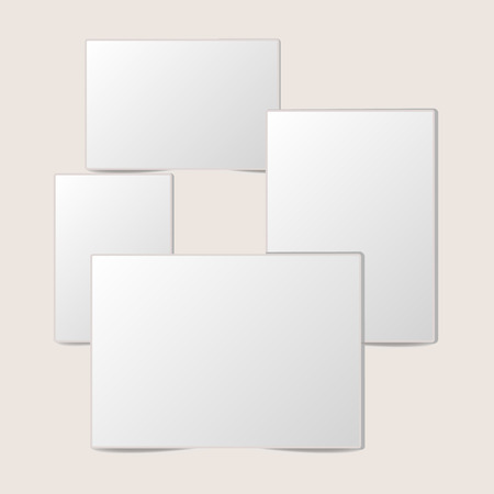 Blank white foto frame Collection with shadow