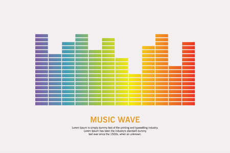 Music colorful wave logo. Pulse Equalizer element