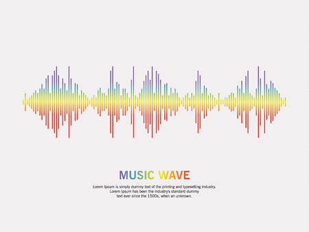 Music wave player logo. colorful equalizer element